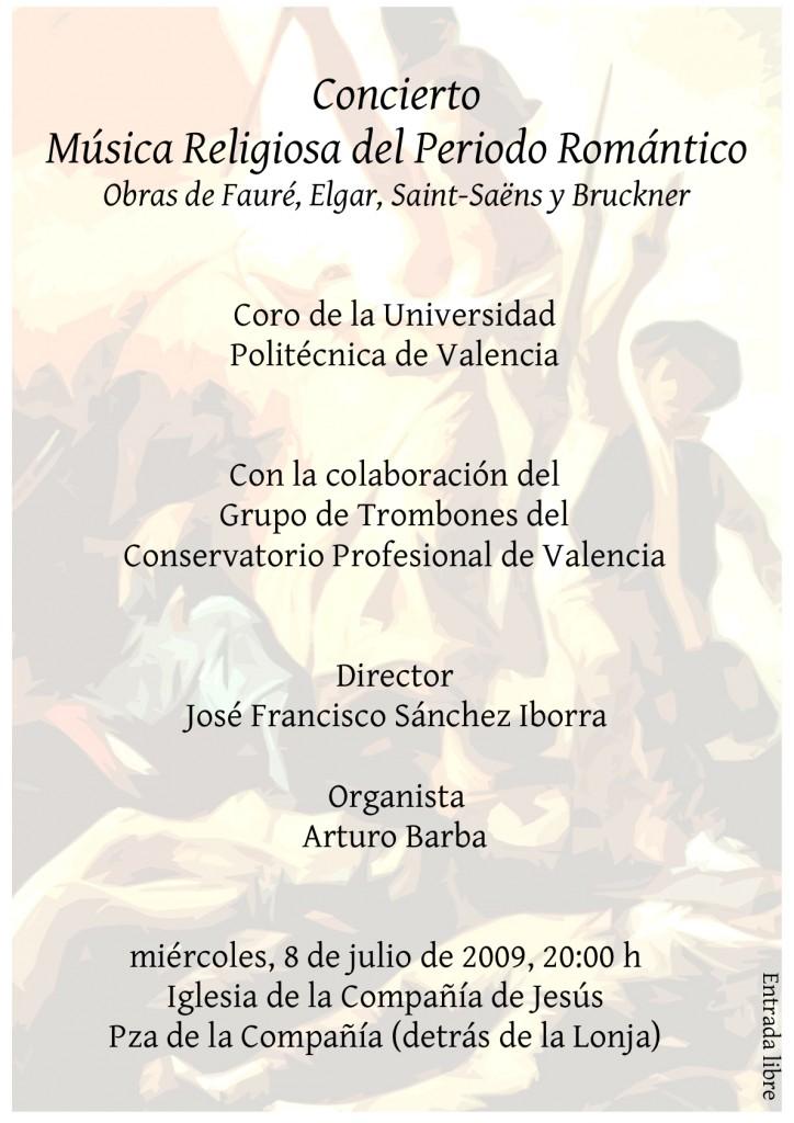 Concierto del coro de la UPV